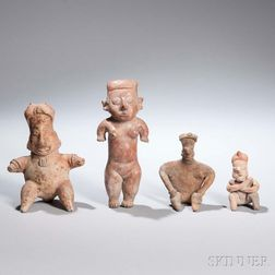Four Western Mexican Pottery Figures