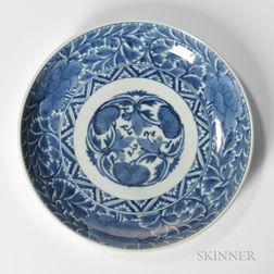 Blue and White Imari Porcelain Plate