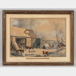 Currier & Ives, Publishers (American, 1857-1907)    The Farm-Yard in Winter
