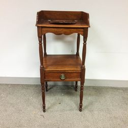 Federal Mahogany One-drawer Washstand