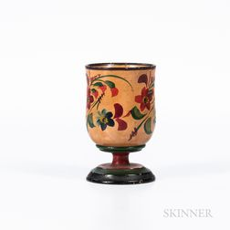 Turned and Painted Lehnware Cup
