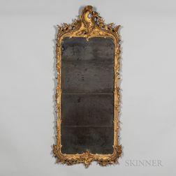 Large Rococo Gilt-gesso Mirror