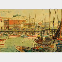 James March Phillips (American, 1913-1981)      Fisherman's Wharf, San Francisco, California