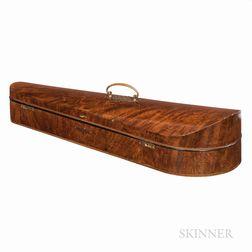 English Walnut Veneer Dart Violin Case, W.E. Hill & Sons