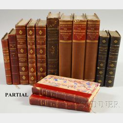 Collection of Decorative Leather-clad and Cloth-bound Books