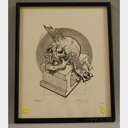 1989 Pushead (a.k.a. Brian Schroeder) Limited Edition '89 Print