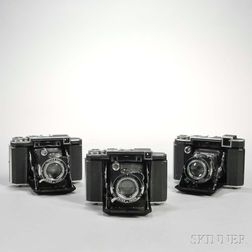 Three Zeiss Ikonta Cameras