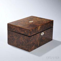 Burl Walnut Vanity Box