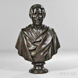 Grand Tour Bronze Bust of a Statesman