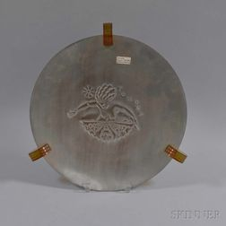 Bakelite-mounted Aluminum Platter Depicting Pomona