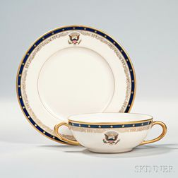 Two Franklin Delano Roosevelt White House Lenox China Dishes