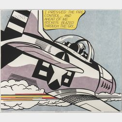 After Roy Lichtenstein (American, 1923-1997)      WHAAM!  /A Diptych Poster