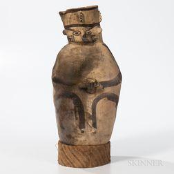 Chancay Painted Anthropomorphic Amphora