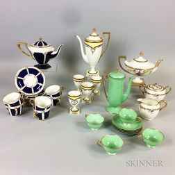 Thirty Mostly Belleek and Lenox Porcelain Teaware Items.     Estimate $20-200