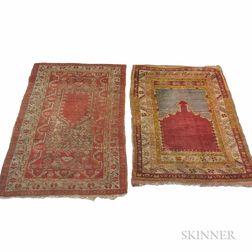 Two Turkish Prayer Rugs