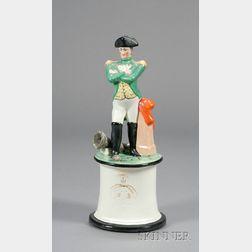 Staffordshire Pottery Figure of Napoleon Bonaparte