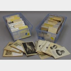 Collection of Late 19th and Early 20th Century Foreign Postcards, Stamps, and   Ephemera