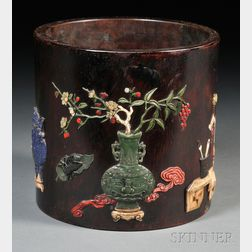 Inlaid Brush Pot