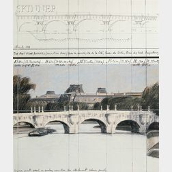 Christo (Bulgarian/American, b. 1935) and Jeanne-Claude (American, 1935-2009)      The Pont Neuf Wrapped (Project for Paris)