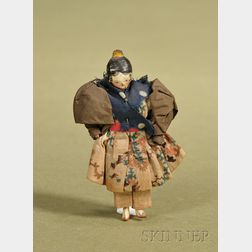 Small Tuck Comb Wooden Lady