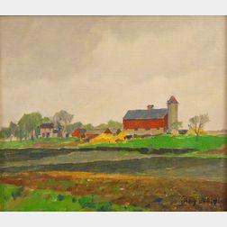 James Jeffrey Grant (American, 1883-1960)      Farm Landscape, Illinois.