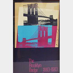 After Andy Warhol (American, 1928-1987)      Brooklyn Bridge Centennial Poster