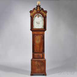 Inlaid Mahogany English Longcase Clock