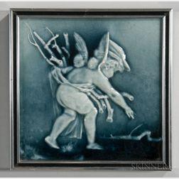 Framed Trent Tile Co. Art Pottery Tile