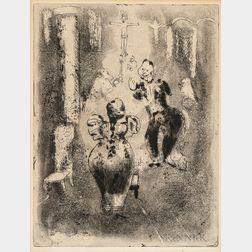 Marc Chagall (Russian/French, 1887-1985)      Á l'eglise