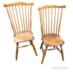 Two Fan-back Windsor Side Chairs