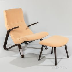 Eero Saarinen for Knoll Grasshopper Chair and Ottoman