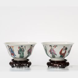 Pair of Enameled Bowls