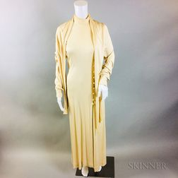 Vintage Halston Cream Dress