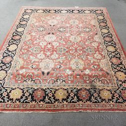 Peshowar Carpet with Serapi Design