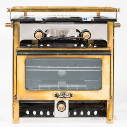 Taylor's Brass and Chromed Metal Propane Yacht Stove