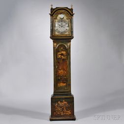 William Rust Japanned Longcase Clock