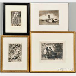 Four Old Master Prints      including