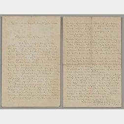 Ibsen, Henrik (1828-1906) Autograph Letter Signed, Gossensass, Tyrol, 4 July 1883.