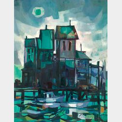 J. Philip Richards (American, 1906-1991)      The River House, Kennebunk