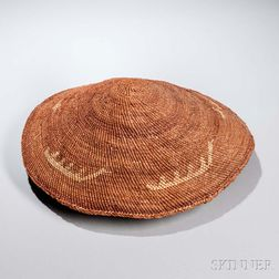 Makah Twined Pictorial Hat