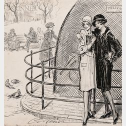 Charles Dana Gibson (American, 1867-1944)      The Pelican Cage