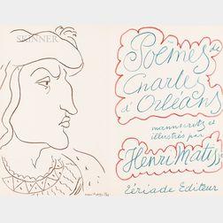 Henri Matisse (French, 1869-1954)      Poèmes de Charles d'Orléans manuscrits et illustrés par Henri Matisse