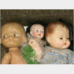 Lot of Three Dolls