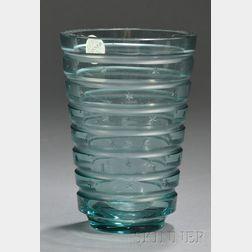 Göran Hongell Cut Glass Vase