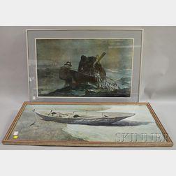 Four Framed Andrew Wyeth Mechanical Prints.
