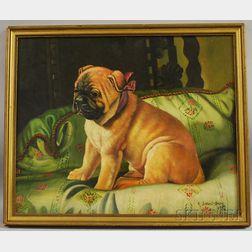 Robert Dumont-Smith (British, 20th Century )      Seated Pug