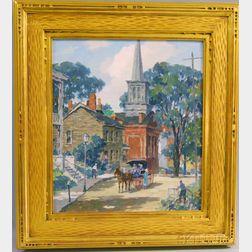 James Jeffrey Grant (American, 1883-1960)      Along the Way, Galena, Illinois