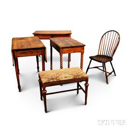 Three Tables, a Windsor Chair, and a Stool