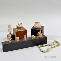 Eight Miscellaneous Pre-Columbian Items