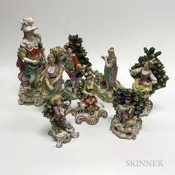 Eight Porcelain Figures